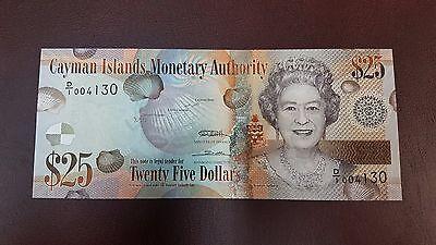 B-D-M Islas Caiman Cayman 25 dollars Elizabeth II 2010 Pick 41 SC UNC