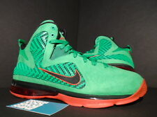 2011 Nike LEBRON IX 9 PE LOOKSEE PE PROMO SAMPLE LUCKY GREEN BLACK CHALLENGE RED