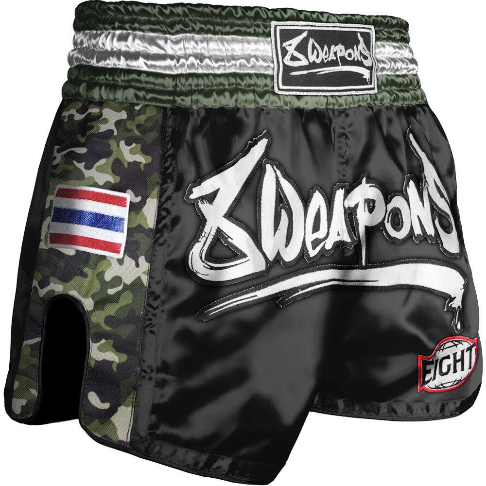 8 WEAPONS Shorts, Ultra Camo, Dark Grün, Muay Thai Hosen, Short, Thaiboxhosen