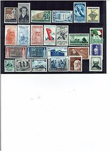 ITALY YEAR 1952 COMPLETE 24 STAMPS UNMOUNTED MINT - Italia - ITALY YEAR 1952 COMPLETE 24 STAMPS UNMOUNTED MINT - Italia