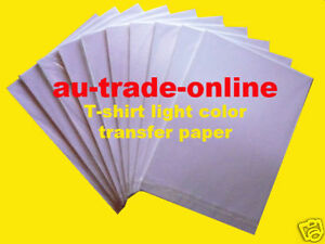 20-sheets-TRANSFER-PAPER-A4-T-SHIRT-Inkjet-print-for-light-COLOURs-t-shirt-IRON