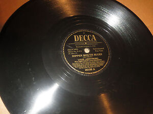 78RPM-Decca-Louis-Armstrong-Save-it-Pretty-Mama-Dipper-Mouth-Blues-nice-V-E