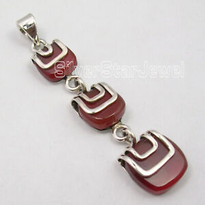Solid-Sterling-Silver-Hot-Selling-Art-Jewelry-Carnelian-12-0-TCW-Pendant
