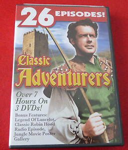 DVD-Movie-3-Disc-Set-Classic-Adventurers-26-Episodes-Lancelot-Robin-Hood