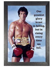 Detalles De Rocky 9 Balboa Stallone Foto Motivación Inspiración Cita Póster Deporte Boxeo