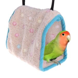 Home & Garden Hot Sale Warm Soft Plush Birds Parrot Hammock Nest Pets Hang Bed Cave Cage Hut House