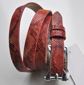 ESPRIT-Trendiger-Guertel-034-Schlangenhaut-034-aus-weichem-Leder-Gr-85