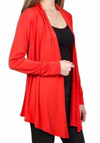 Red or Coral DRSKIN Womens Open Front L//Sleeve Knit Cardigan Size XL NEW Purple