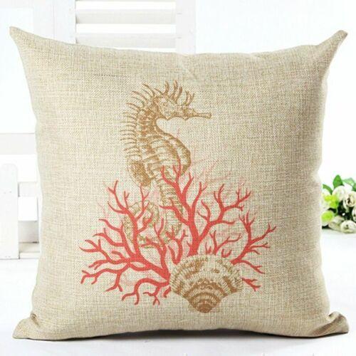 Fashion Sea Cotton Creature Pillow Case Car Bed Sofa Waist Cushion Cover Gift