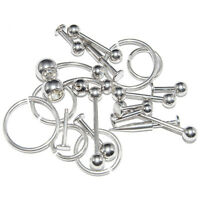 Wholesale Lot Of 20 Basic Mixed 14g Body Piercing Jewelry Surgical Steel