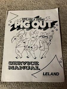 original Pig Out Leland Arcade Video Game manual | eBay