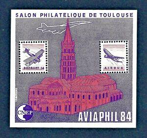 FRANCE-BLOC-NEUF-CNEP-N-5-039-AVIAPHIL-84-Salon-Philatelique-de-Toulouse-039