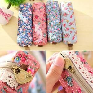 Flower-Floral-Lace-Pencil-Pen-Case-Cosmetic-Makeup-Make-Up-Bag-Zipper-Pouch