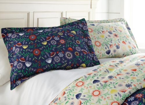 Boho Bloom Down Alternative 3-piece Ultra Plush Reversible Comforter Set