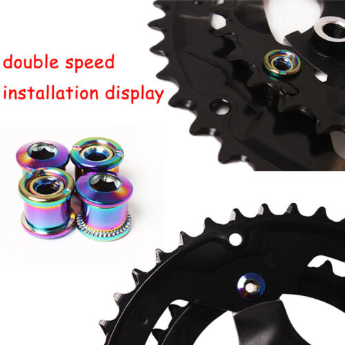 KRSEC MTB Road Bike Single Double Chainring Bolts Sprocket Chainwheel Screws