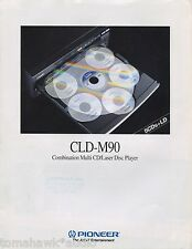 Pioneer CLD-M90 Original Brochure Multi CD/Laser Disc Player