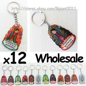 Wholesale Lot 12 Virgin Guadalupe Maria Catholic Christian Key Rings