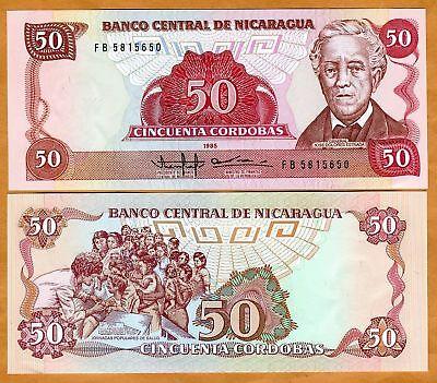 Nicaragua 1985-50 cordobas Pick 153 UNC