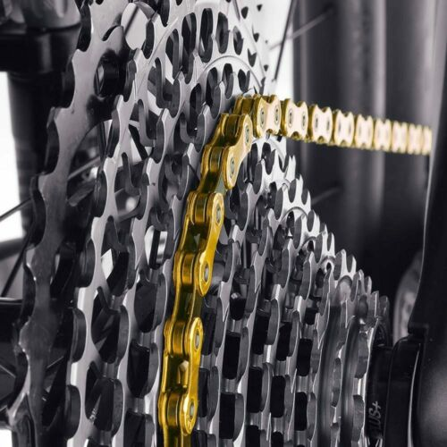 KMC X12 12 Speed 126L MTB Road Bike Chain 12s Golden Chain with Magic Link