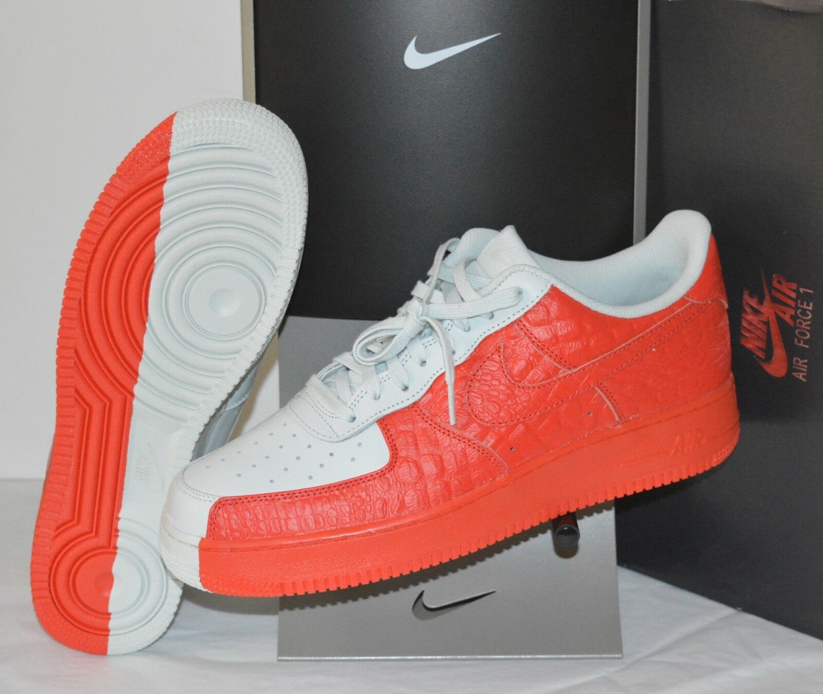 New Nike Air Force 1 '07 PRM Barely Grey/Habanero Red Split Price reduction Special limited time