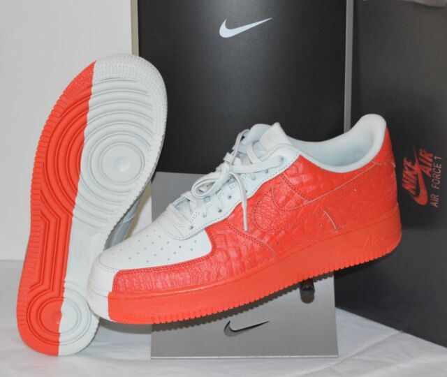 the latest e4540 9c7a9 New Nike Air Force 1  07 PRM Barely Grey Habanero Red Split sz 11.5