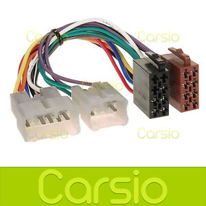 daihatsu sirion iso wiring harness connector stereo radio adaptor rh ebay com Engine Wiring Harness Car Wiring Harness