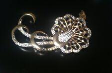 Vintage Large Rhinestone Spider Web Pin Brooch Pendant 1940's Rhodium Boucher??