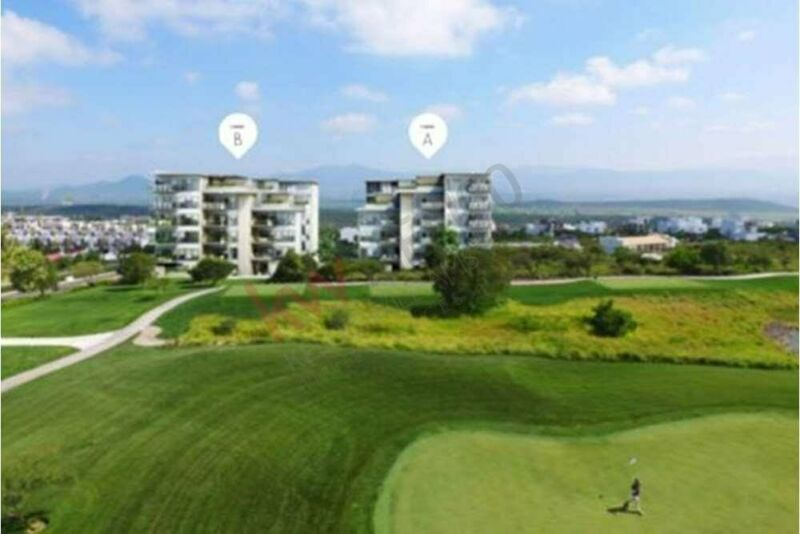 Departamento en venta Zibatá Querétaro en P.B. 2 R. Gran terraza, Golf, seguridad