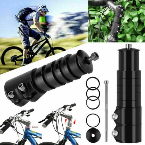 Fahrrad Lenkererhöhung 138 mm Schwarz Lenkergabel Vorbau Verlängerung Aluminium