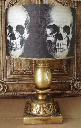 abat-jour halloween noir et or cadeau gratuit Gothique crâne abat-jour 2