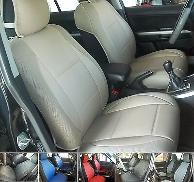 mix LEATHERETTE AND SYNTHETIC TWO FRONT CAR SEAT COVERS fits ON LUXURY SUV SEATS