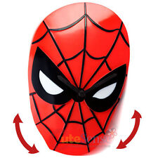 Marvel Spiderman Face Wobble Clock Wall Clock Moving Watch