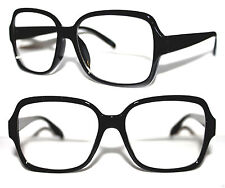 Vintage Men's Clear Lens Eye Glasses Old School Black Retro Square Hip Hop 749