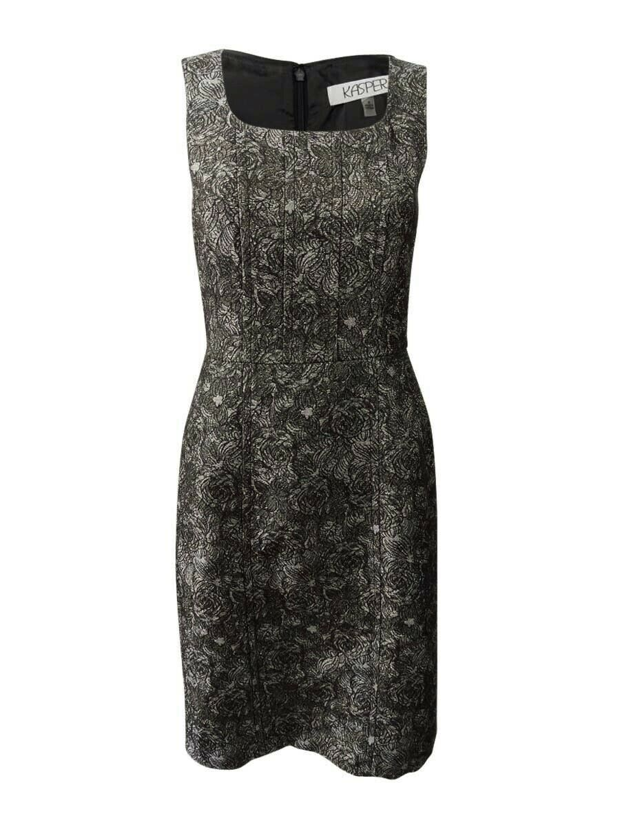 Kasper Women's Jacquard Sheath Dress Dress Dress a1628a