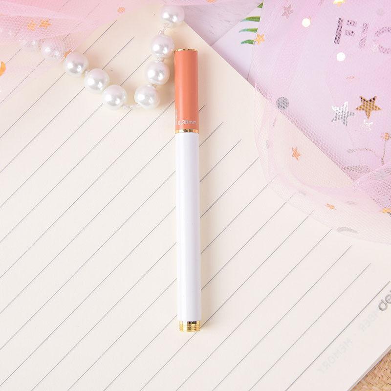 Imitation Mahagoni Pen Füllfederhalter Gold Trim Fashion Geschenk Schreibf I7M2