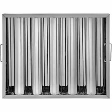 6 Pack 20x16 Commercial Stainless Steel Hood Grease Exhaust Filter Baffle