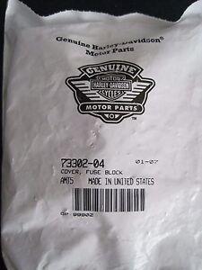 Details about HARLEY DAVIDSON FUSE BLOCK COVER BLACK P/N 73302-04 NOS on