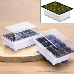 New-Seedling-Seed-Propagation-Starter-Trays-Pots-Garden-Plant-Germination-12Cell