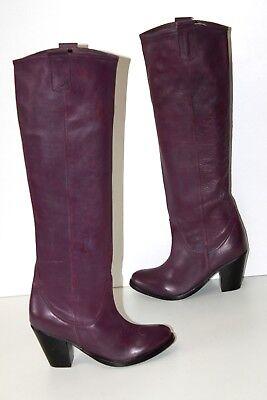 DELPOL Bottes Cavalières à Talons Cuir Souple Violet T 38 ETAT NEUF | eBay