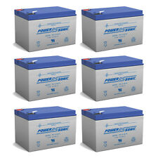 Power-Sonic 12V 12AH F2 Replacement Battery for EV12, EV12120 - 6 Pack