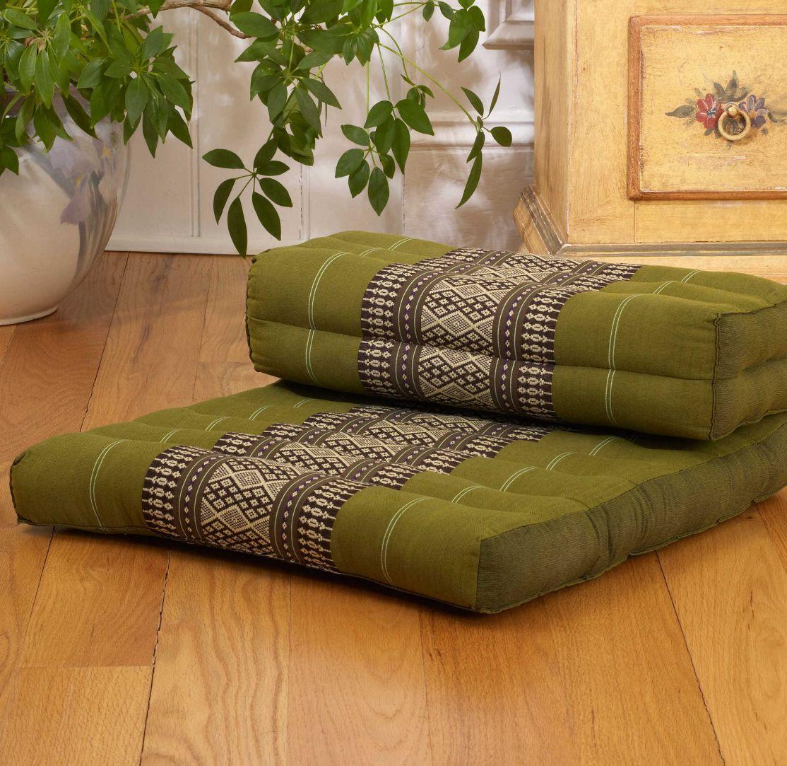 Salbei Meditation Cushion Organic Fill Cotton Cover Meditation Atmen Pranayama Mat
