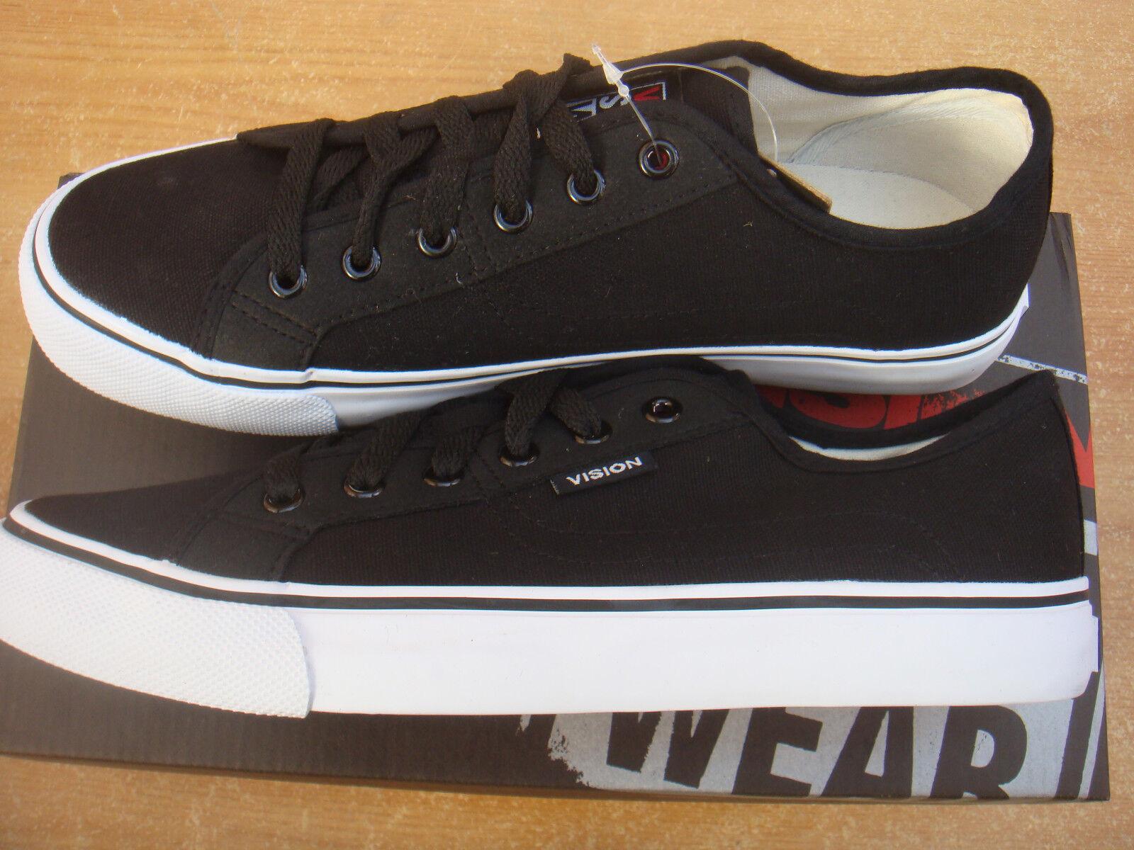 Skateboard noir/blanc VISION STREET wear toile baskets taille uk 10