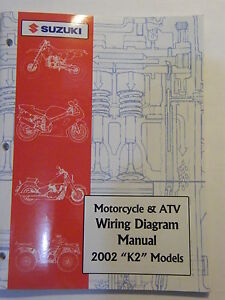 NEW 2002 SUZUKI MOTORCYCLE & ATV WIRING DIAGRAM K2 MODELS ...