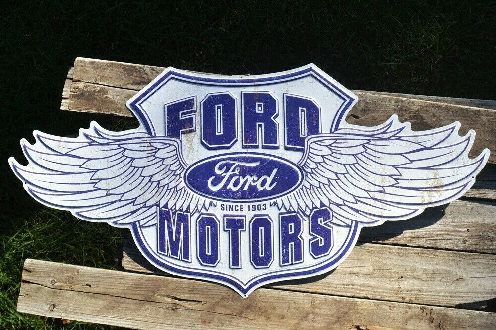 """FORD MOTOR CO SINCE 1903 Vintage Design Metal Advertising Thermometer 12/"""""""
