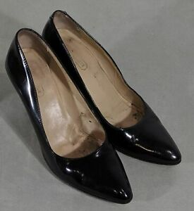 ald size 8 coach black patent leather pointed toe classic