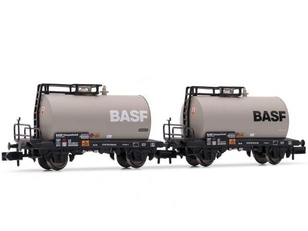 2-teiliges Set Vagone Cisterna Basf DB Ep.iv Arnold HN6312 Scala N