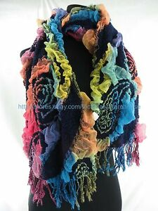rose paisley 3D warm winter fall scarf wholesale scarf
