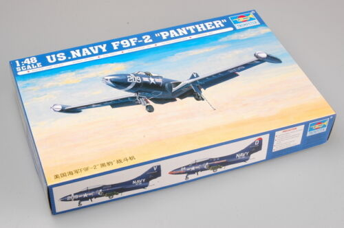 Navy F9F-2 Panther Trumpeter 1//48 02832 U.S