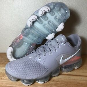 4eaa05d902309 Nike Air Vapormax GS Running Shoes Atmosphere Grey Pink Youth SZ New ...