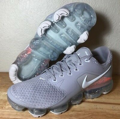 Nike Air Vapormax Running Shoes 917962-008 Atmosphere Gray//Wht Kids Size 4Y GS